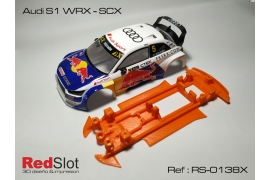 3DP In line soft chassis Audi S1 WRC SCX