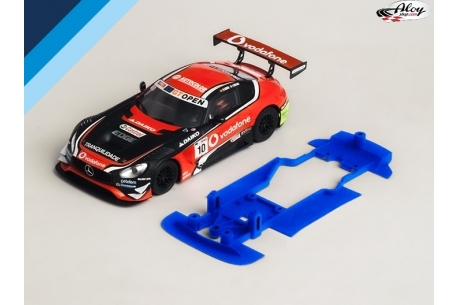3DP SLS chassis for AMG Mercedes GT3 SCX. Slot.it AW