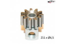 Steel Pinion pull-out brass Z11 x 6.5 mm