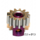 Steel Pinion pull-out brass Z13 x 7.5 mm