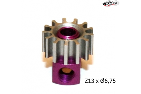 Steel Pinion pull-out brass Z13 x 6.7 mm
