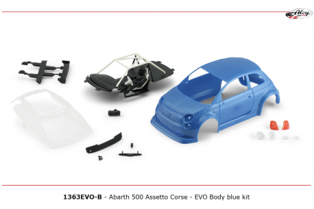 Bodywork Abarth 500 kit Blue