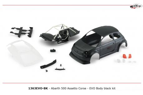 Bodywork Abarth 500 kit Black