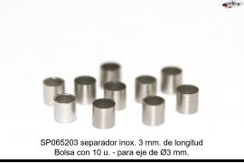 Separador 3mm Longitud, para eje 3 Ø