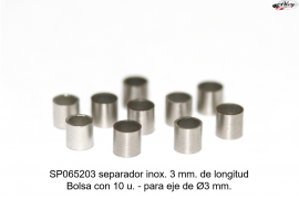 Spacer 3mm Length, for shaft 3 Ø