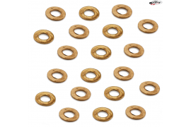 Metal washers for M2 screws.