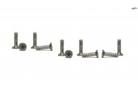 Semi-threaded screws for fixing bodies.