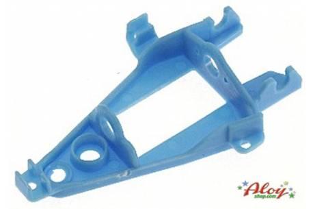 Soporte motor inline triangular blando azul.
