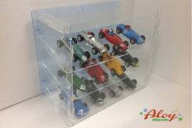 Showcase of methacrylate 1/32 to 12 cars / transparent background