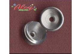 Aluminium wheels 1/24 17mm for bearings (x 2)
