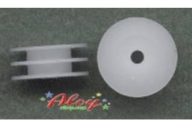 Polea nylon delrin 8mm doble 1:24(2 udes)