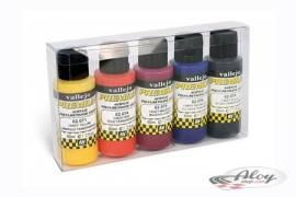 Estuche de 5 colores Premium - Colores Transparentes